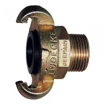 "Lüdecke KAG 10 Claw Coupling + 1"" Male thread"