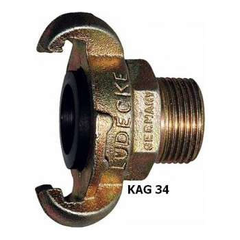 "Ludecke KAG 34 Claw Coupling + 3/4"" Male thread"