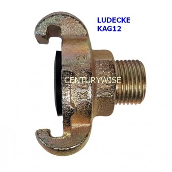 "Ludecke KAG 12 Claw Coupling + 1/2"" Male thread"