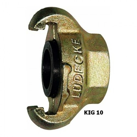 "Ludecke KIG 10 Claw Coupling + 1"" Female thread"