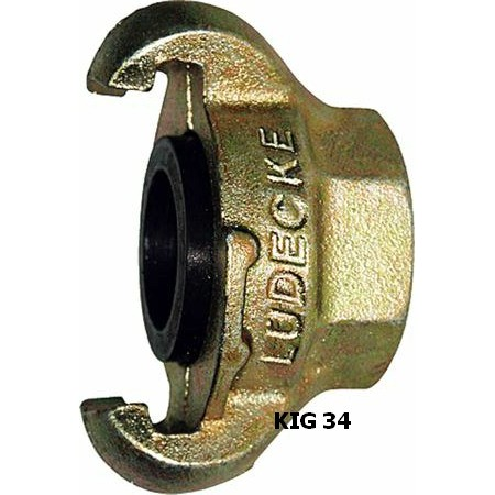 "Ludecke KIG 34 Claw Coupling + 3/4"" Female thread"