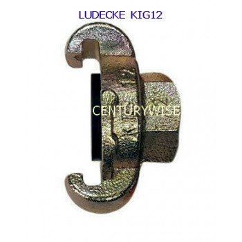 "Ludecke KIG 12 Claw Coupling + 1/2"" Female thread"