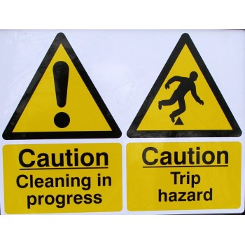 Sign - Trip Hazard/Clng in Progr